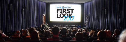 FIRST LOOK logo on screen banner